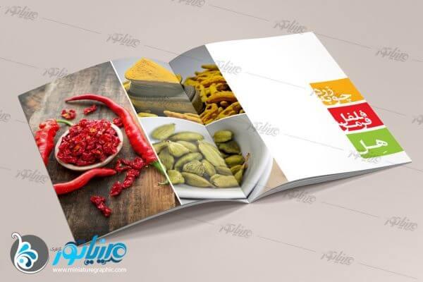طراحی کاتالوگ محصولات شرکت آغاز دانه سپاهان / www.myaghaz.com