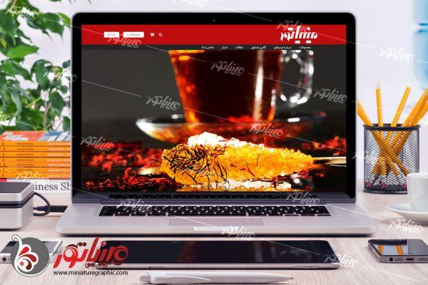 طراحی وب سایت شرکت نبات مینیاتور miniaturecandy.com