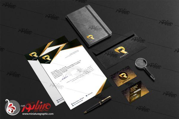 طراحی ست اداری کمپانی رُِمِما فرانسه ( زمینه فعالیت مدلینگ و میکاپ )
