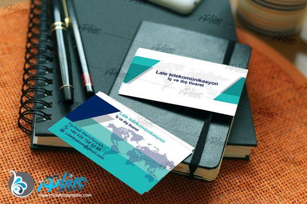 """طراحی کارت ویزیت """" کمپانی لاله """" تجارت داخلی و خارجی در ترکیه"""